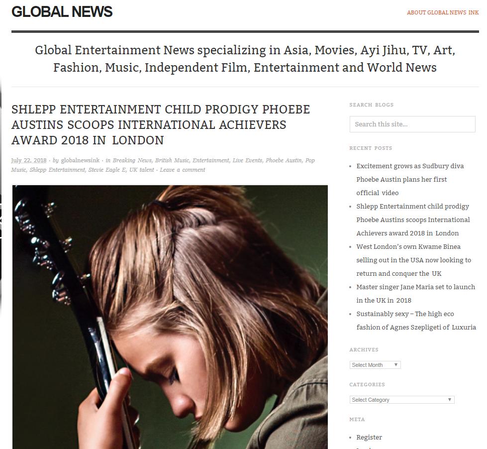 Global news ink July 2018