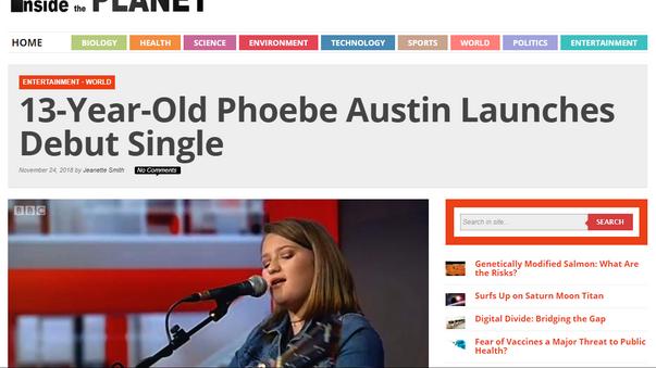 Phoebe Austin - Inside planet article
