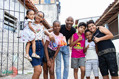 Kids Easter event in the favela