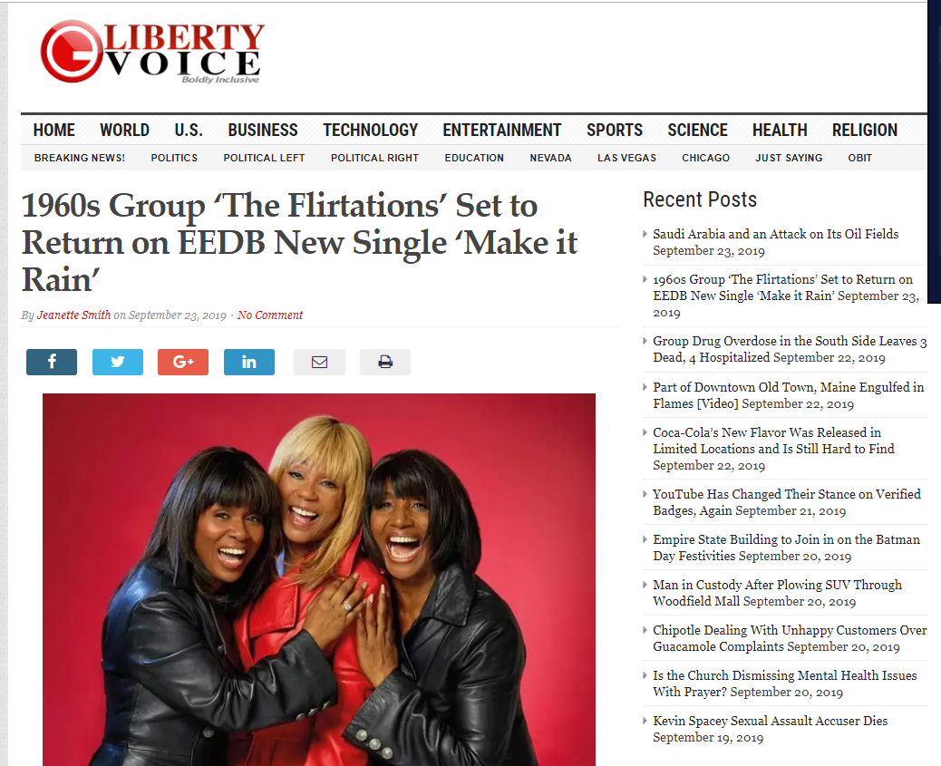 EEDB se junta a The Flirtations no próximo single