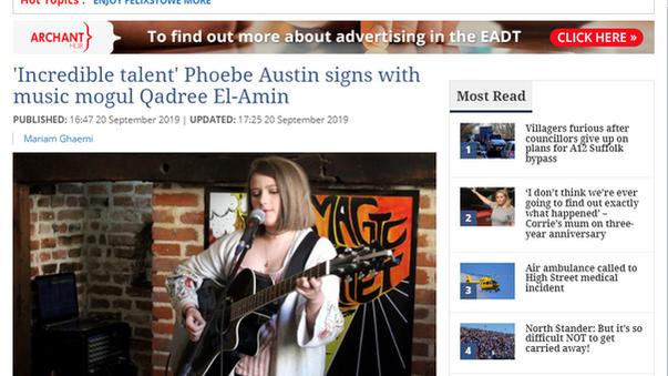 Phoebe Austin signs with super mogul Qadree El-Amin