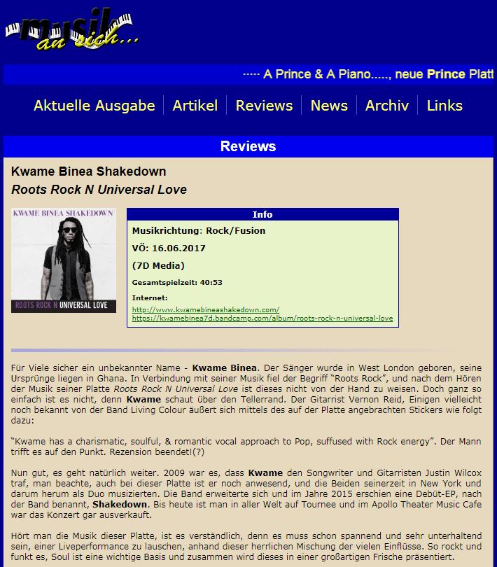 Kwame Binea MusicKanish review Germany