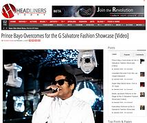 Prince Bayo Headiners story