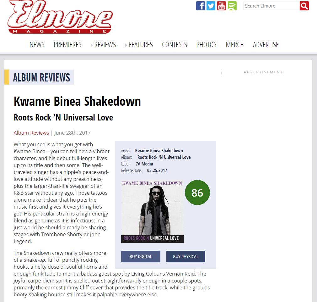 Kwame Binea in Elmore Magazine
