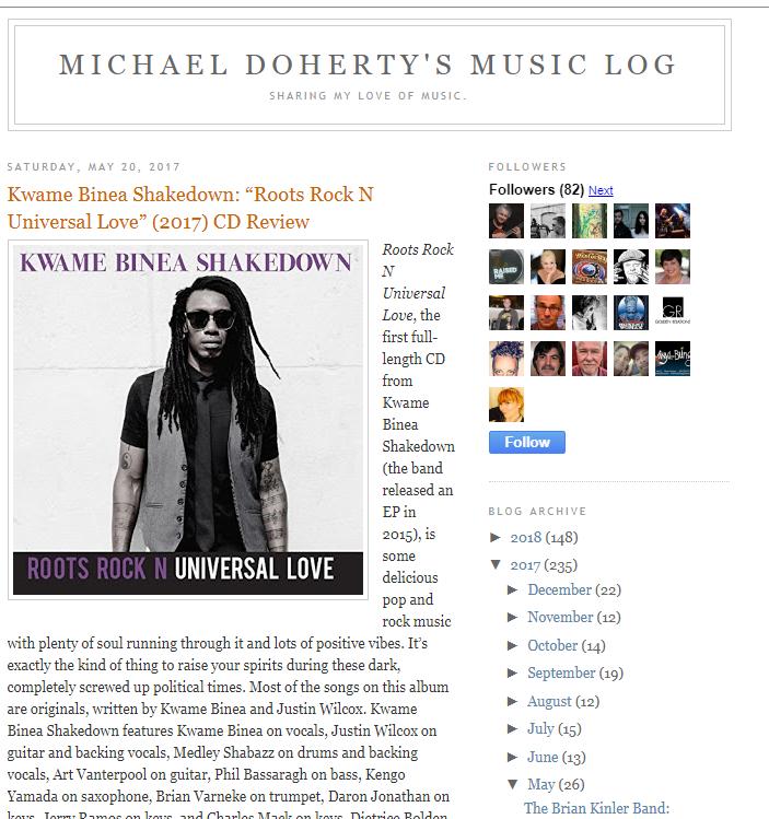 Kwame Binea Michaels Music Blog review