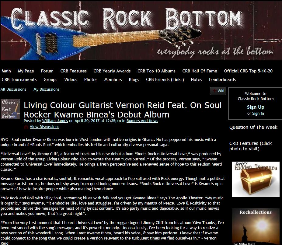 Kwame Binea Classic Rock bottom Review
