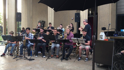 Performing in Balboa Park