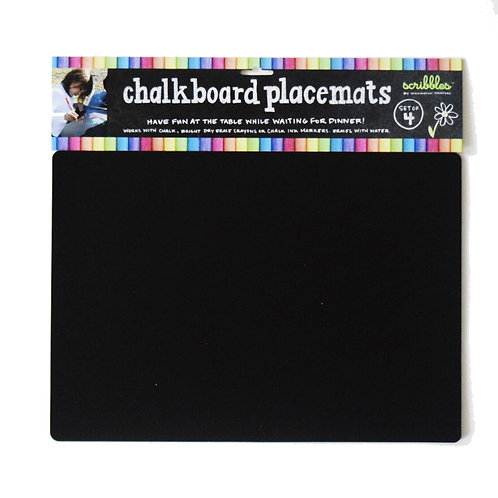 Chalkboard Travel Placemat Set