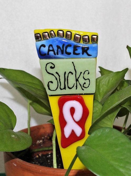 Garden Stake - Cancer Sucks