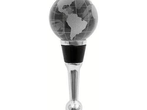 Crystal Globe Bottle Stopper