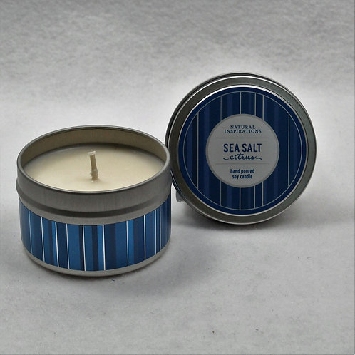 Sea Salt 4oz Soy Candle Tin