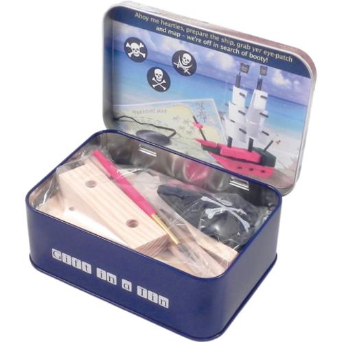 Make Your Own Pirate Ship Tin Set