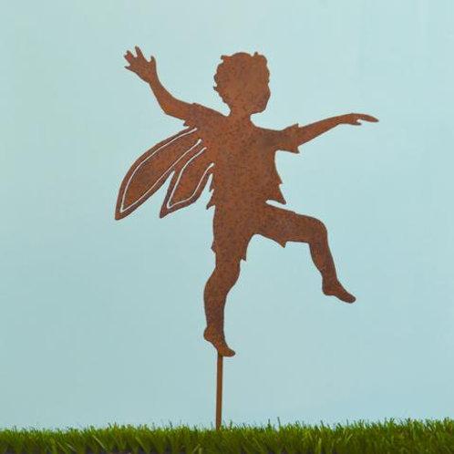 Skipping Boy Fairy Stake