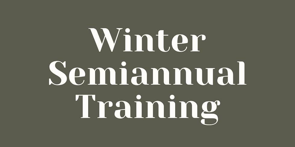 December Semiannual Training