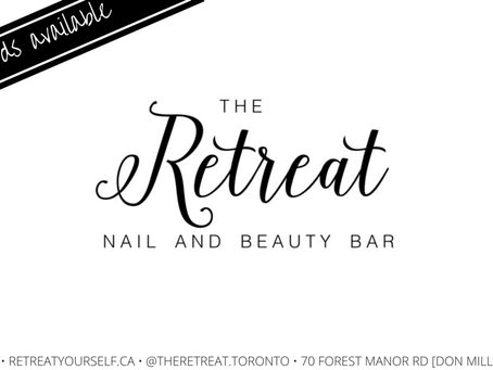 """NOW OPEN: """"The Retreat Nail and Beauty Bar""""!"""
