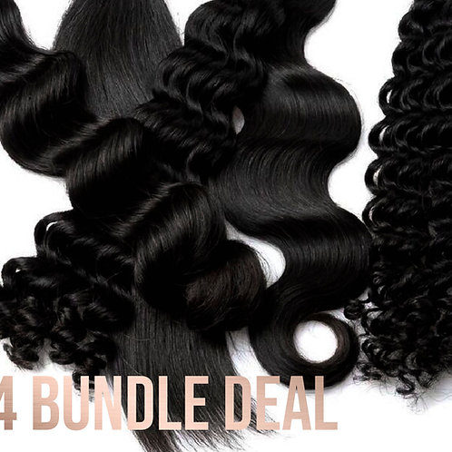 Gold Virgin Hair 4-Bundle Deal