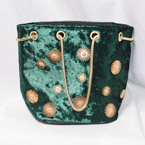 Metal Applique Bucket Bag