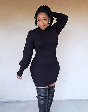 Cozy Matters Sweater Dress