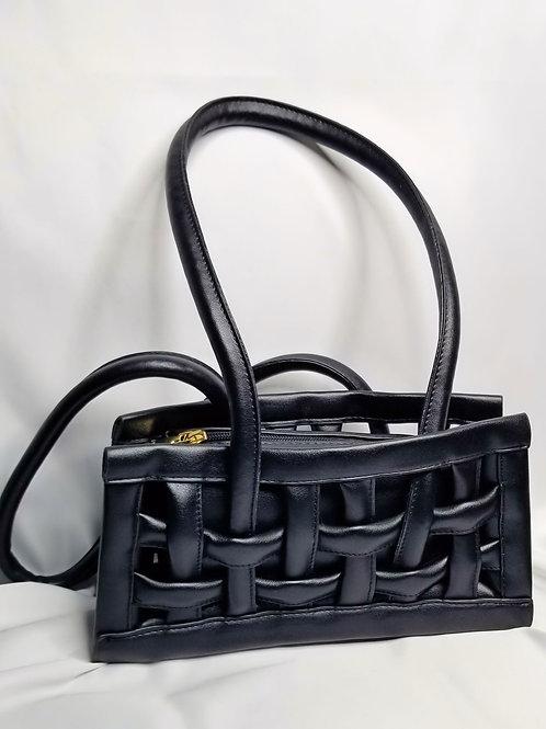 Basket Weave Shoulder Bag