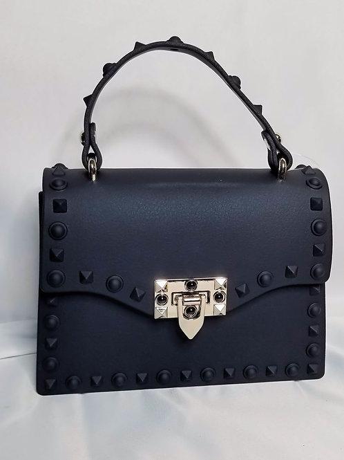 Stud Life Shoulder Bag - Black