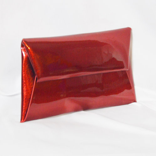 Glossy Envelope Clutch