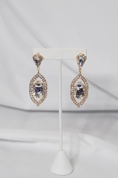 Rhinestone Paved Teardrop Earrings