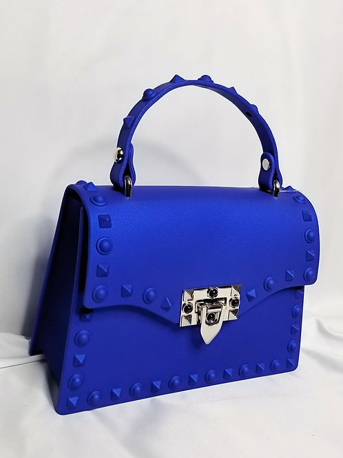 Stud Life Shoulder Bag - Blue