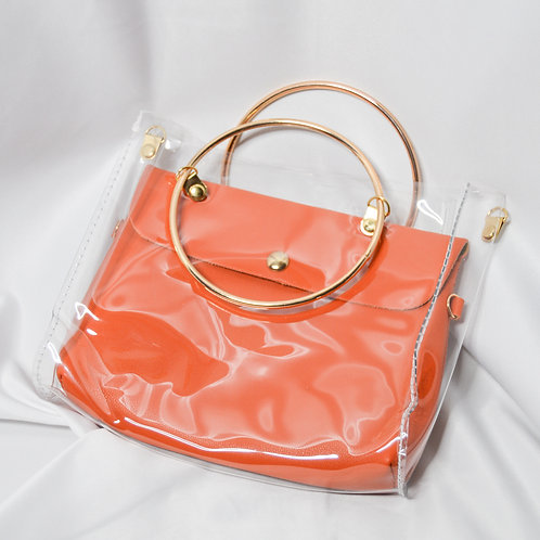 Transparent Bucket Bag - Orange