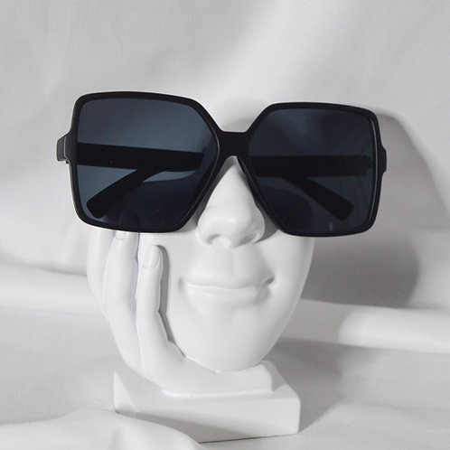 Oversize Square Neutral Colored Flat Lens
