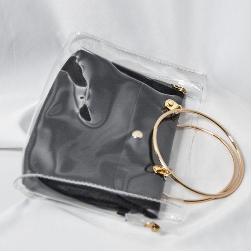 Transparent Bucket Bag - Black