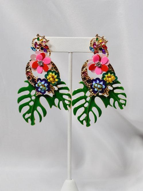 Flower Power Pendant Earrings