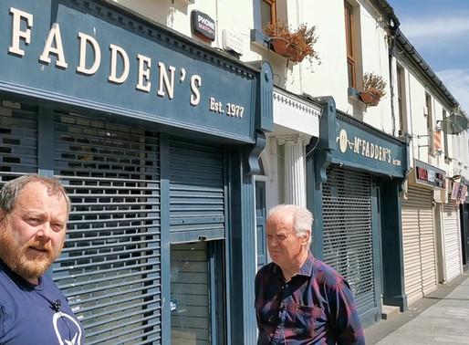 Noel Heeney at McFaddens taking bookings for Back To School Uniforms.