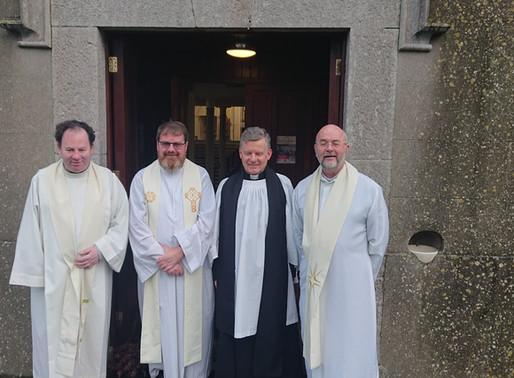Rev Trevor Sargent welcomed to Ecumenical Christian Unity Service is Balscdden.