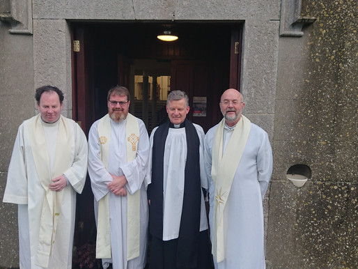 Rev Trevor Sargent welcomed to Ecumenical Christian Unity Service is Balscdden.