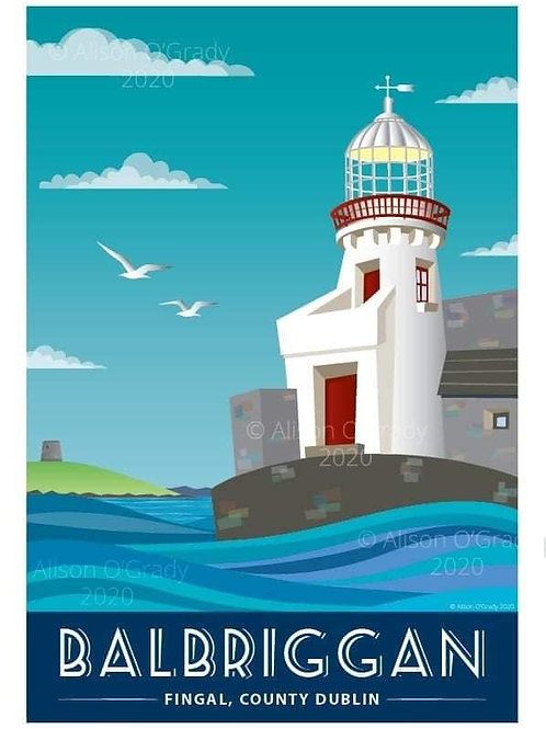 Balbriggan Lighthouse 2020 Framed Print B