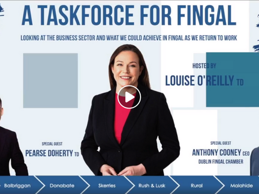 Fingal Sinn Féin host online meeting: A Taskforce for Fingal Business Sector.