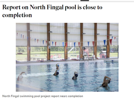 Report on North Fingal pool is close to completion