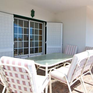 balcony, top floor, seating on balcony outside bedroom, top floor