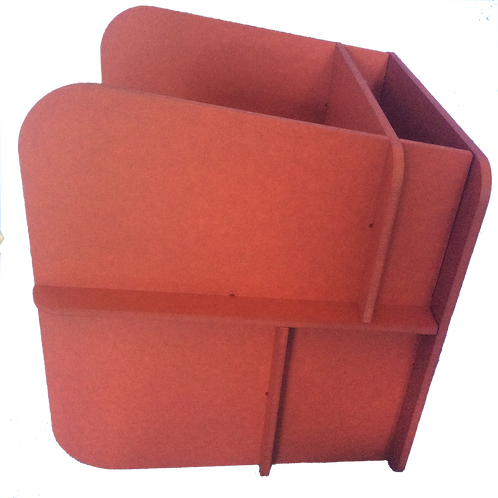 modülo III rouge teinté masse