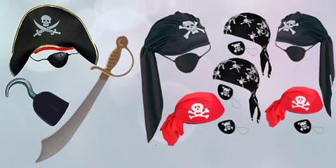 Bandanas, Saebel, Piratenhut, Hakenhand
