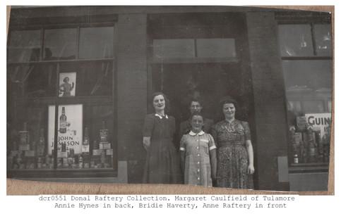Left to right, Margaret Caulfield, Annie Hynes, Bridie Haverty, Anne Raftery Circa 1945