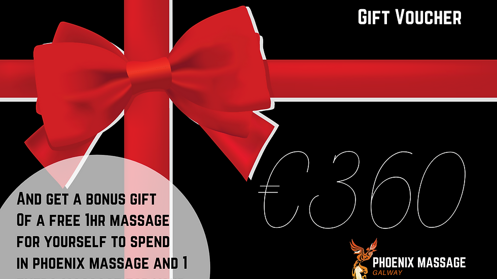 The Ultimate Massage Voucher - 7, 1 hour massages and a bonus massage for you