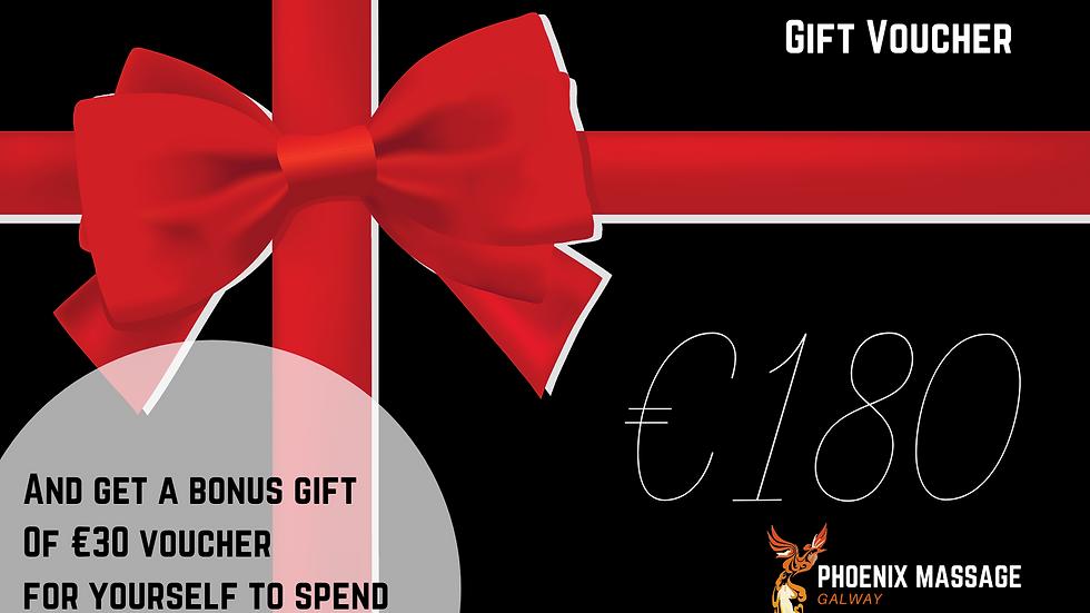 €180 Massage Voucher - Value 3 1 hour massages & and bonus voucher for you!