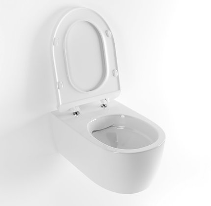 WALL-HUNG TOILET WITH A SOFT-CLOSE SEAT COVER DOTO PURE RIM 48