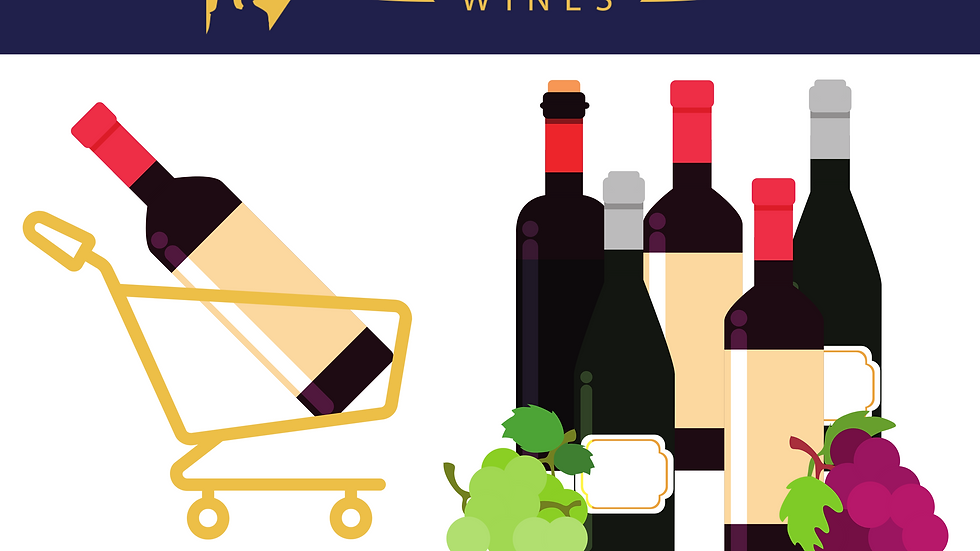 Boutique Wine Shopping Trolley   6 bottles per month