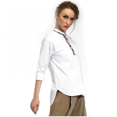 Рубашка контрастный батик