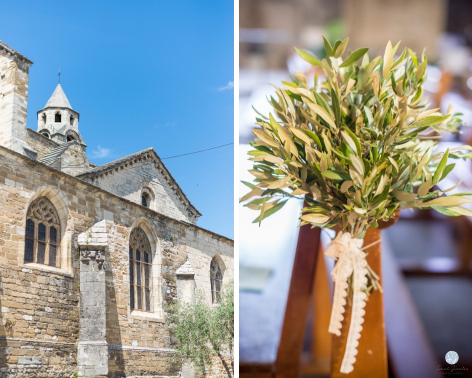 Photographe mariage Eglise décoration Valréas France Provence Gard Lubéron