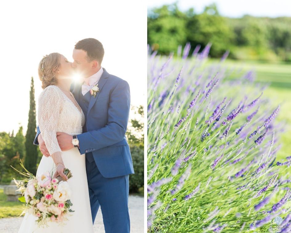 Photographe mariage mariés lavande Mas de Loisonville Grillon Provence Gard Lubéron Savoie Haute-Savoie