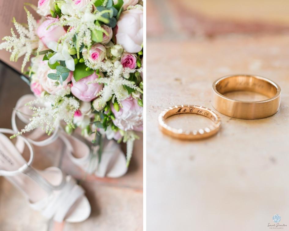 Photographe mariage Mas de Loisonville Grillon Provence Lubéron Gard alliances fleurs
