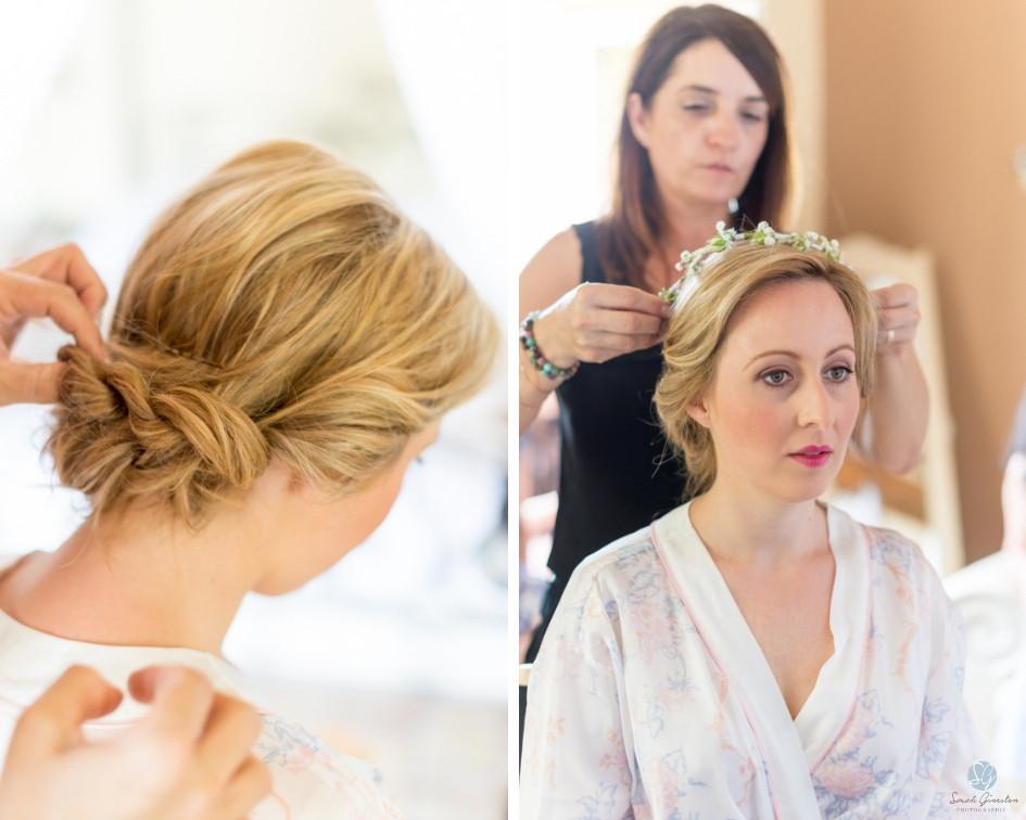 Photographe mariage mariée maquillage préparatifs Mas de Loisonville Grillon Provence Savoie Haute-Savoie